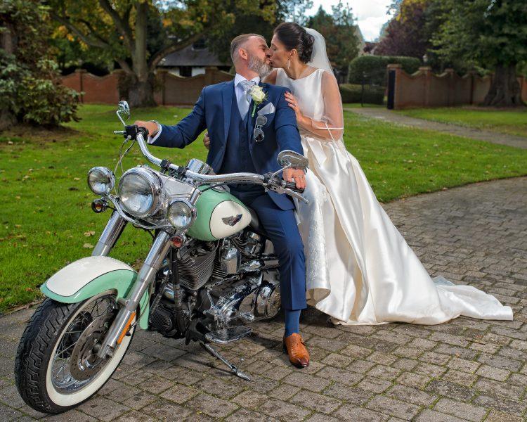 Orsett Hall Biker wedding