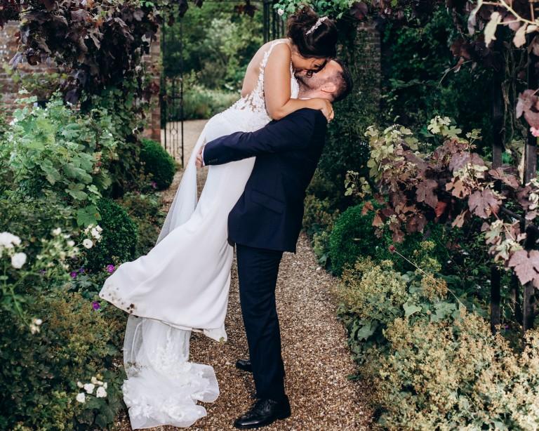 Braxted park wedding walled garden